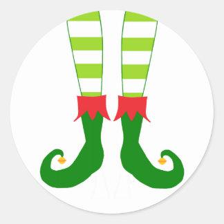 Cute Christmas Elf Feet Stickers