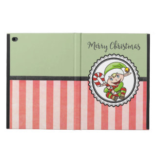 Cute Christmas Elf with Candy Cane Merry Christmas Powis iPad Air 2 Case