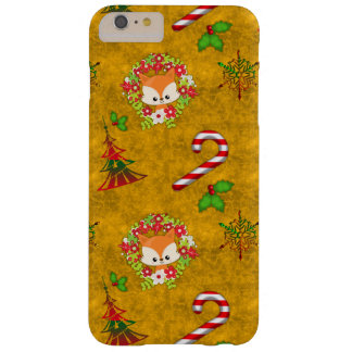 Cute Christmas Fox Barely There iPhone 6 Plus Case