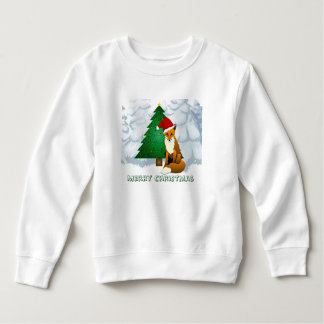 Cute Christmas Fox Fleece Sweatshirt