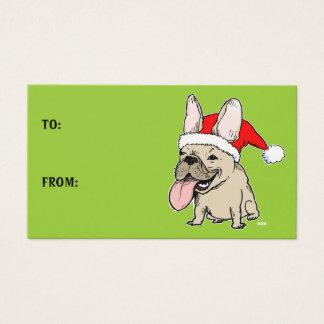 Cute Christmas French Bulldog Holiday Gift Tags