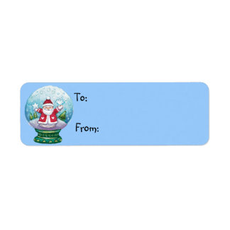 Cute Christmas Gift Tags Return Address Label