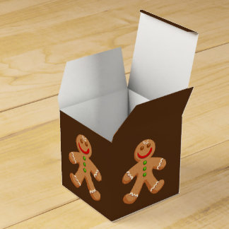 Cute Christmas Gingerbread Favor Box