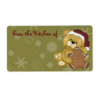 Cute Christmas Gingerbread Kitchen Labels