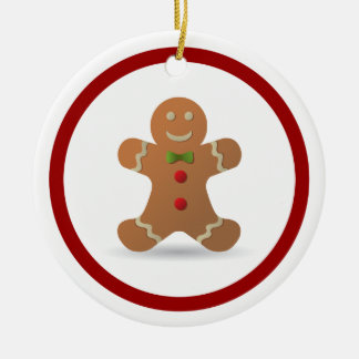 Cute Christmas Gingerbread Man Personalized Christmas Ornament