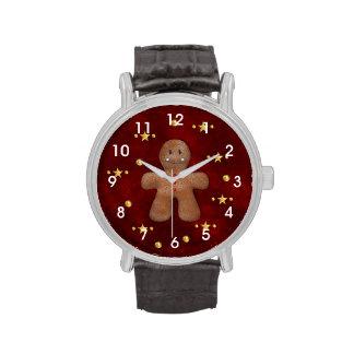 Cute Christmas Gingerbread Man Wrist Watch