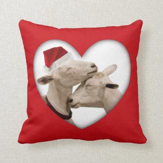 Cute Christmas Goat Couple Cushion