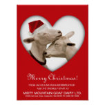 Cute Christmas Goat Couple Poster