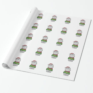 Cute Christmas Hippo Design Wrapping Paper