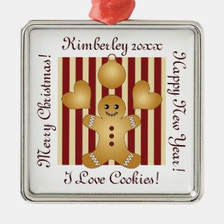 Cute Christmas Holiday Cookie Cartoon Kids Custom Christmas Ornament