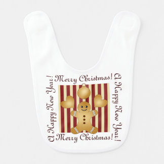 Cute Christmas Holiday Cookie Cartoon Personalized Bibs