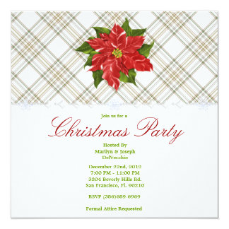 CUTE Christmas Holiday Party 13 Cm X 13 Cm Square Invitation Card