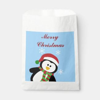 Cute Christmas Holiday Penquin Favor Bags