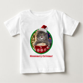 Cute Christmas Hot Cocoa Kitty Baby T-Shirt