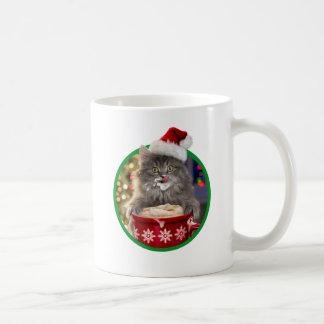 Cute Christmas Hot Cocoa Kitty Coffee Mug