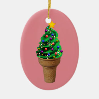 Cute Christmas Ice Cream Tree Modern Ornament