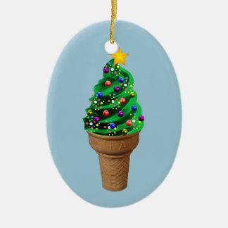Cute Christmas Ice Cream Tree Modern Ornament