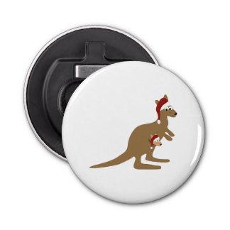 Cute Christmas Kangaroos Bottle Opener