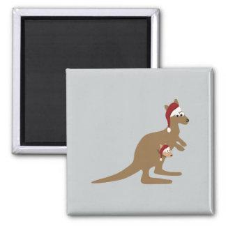 Cute Christmas Kangaroos Magnet