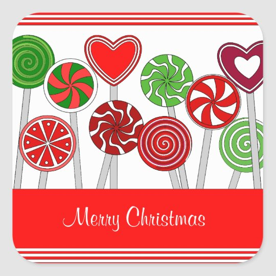 Cute Christmas Lollipops Sticker