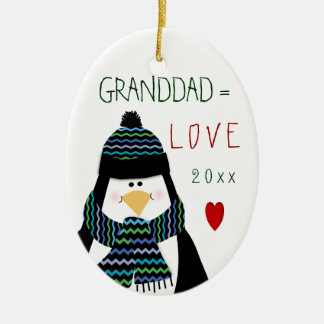 Cute Christmas Love Granddad Ornament