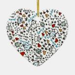 Cute Christmas Love Ornament (Heart)