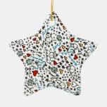 Cute Christmas Love Ornament (Star)