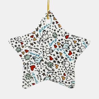 Cute Christmas Love Star Ornament