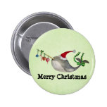 Cute Christmas Narwhal 6 Cm Round Badge