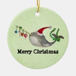 Cute Christmas Narwhal Christmas Ornaments