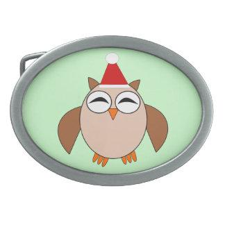 Cute Christmas Owl Belt Buckle