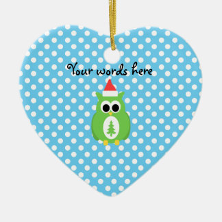 Cute christmas owl christmas ornament
