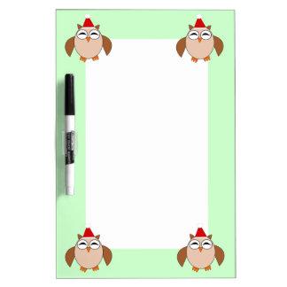 Cute Christmas Owl Memo Board