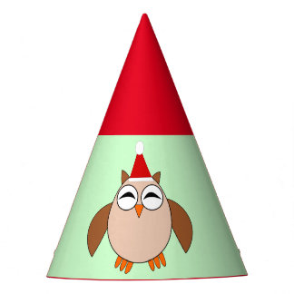 Cute Christmas Owl Party Hat