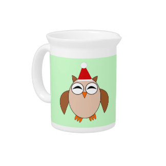 Cute Christmas Owl Pitcher
