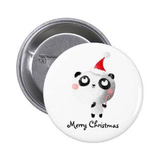Cute Christmas Panda Bear 6 Cm Round Badge