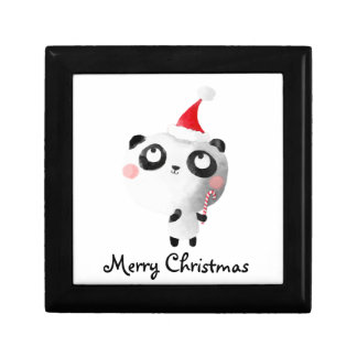 Cute Christmas Panda Bear Gift Box