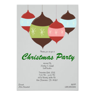 CUTE Christmas Party Hanging Ornaments Holiday 13 Cm X 18 Cm Invitation Card