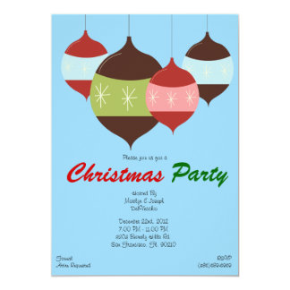CUTE Christmas Party Hanging Ornaments Holiday Inv 13 Cm X 18 Cm Invitation Card