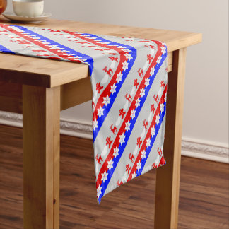 Cute Christmas Pattern Gingerbread  Men Deer Heart Short Table Runner