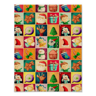 Cute Christmas Pattern Poster