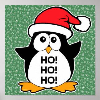 Cute Christmas Penguin Ho Ho Ho Poster
