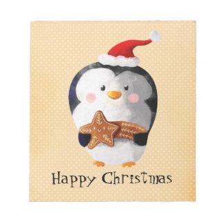 Cute Christmas Penguin Notepad