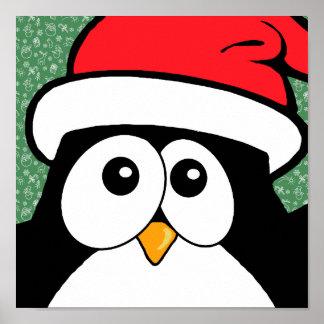 Cute Christmas Penguin Poster