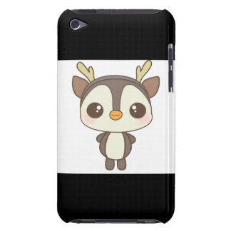 cute christmas penguin reindeer character barely there iPod cases