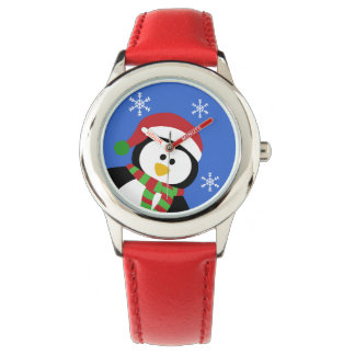 Cute Christmas Penguin Wrist Watch