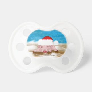 Cute Christmas Pig pacifier, christmas designer Pacifiers