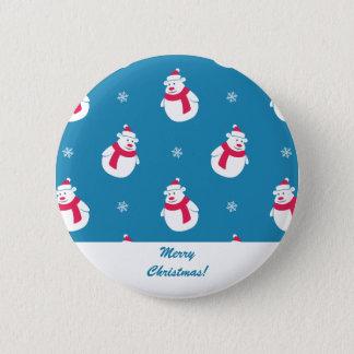 Cute Christmas Polar Bear Button