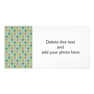 Cute Christmas Presents Pattern Photo Cards