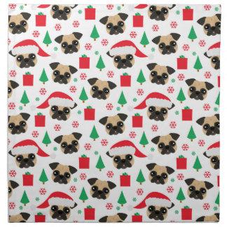 Cute Christmas Pug Napkin